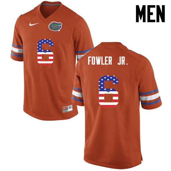 Men Florida Gators #6 Dante Fowler Jr. College Football USA Flag Fashion Jerseys-Orange